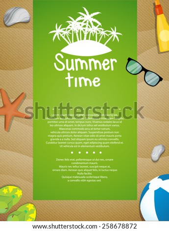 Sand background - stock vector