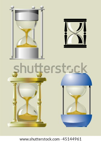 Sand clock in different styles