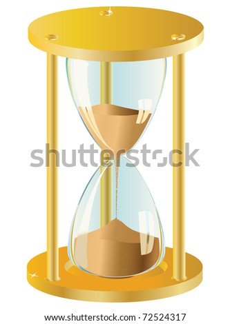 Sand Clock. Vector illustration - stock vector