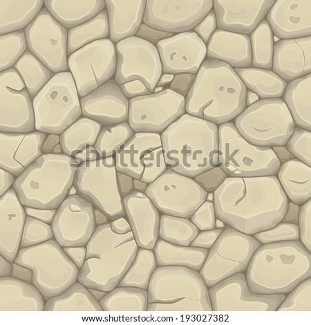 Sand stone seamless background. Vector illustration - stock vector