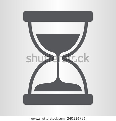 Sand timer icon - stock vector