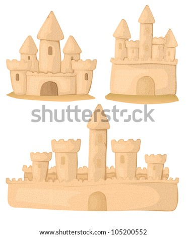 Sandcastle set - stock vector