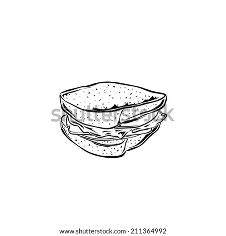 Sandwich - stock vector