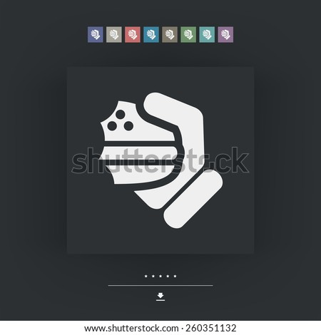 Sandwich icon - stock vector