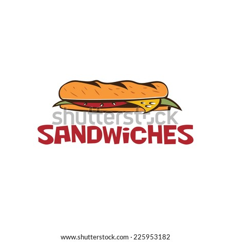 sandwich vector design template - stock vector