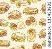 Sandwich wrap seamless pattern - stock