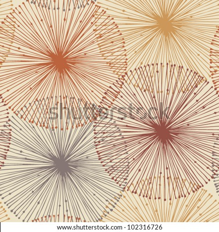 Sandy and orange radial elements. Seamless background for patterns, cards, textile, wallpapers, web pages - stock vector