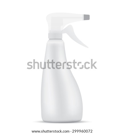 Sanitary Spray Bottle - stock vector