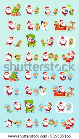 santa and his helpers big set father christmas daily activities stickers winter fun with - Santa Activities