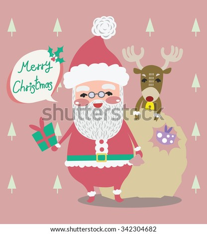 santa christmas vector design - stock vector