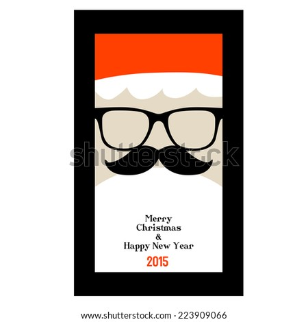 Santa Claus 2015 - stock vector