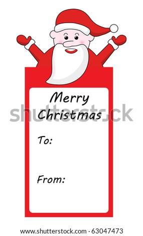 santa claus christmas gift tag stock vector 63047473 shutterstock