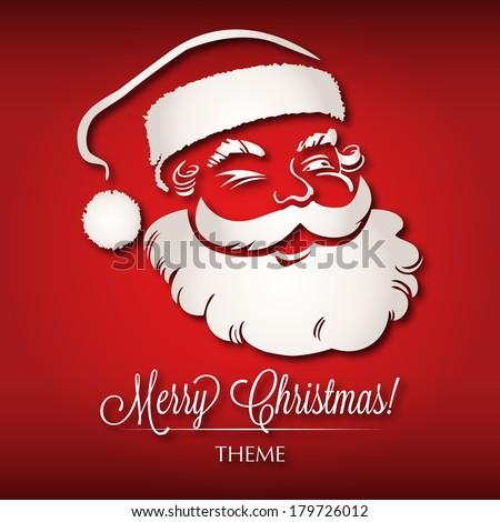 Santa Claus Christmas Theme - stock vector