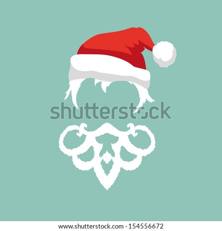 Santa Claus fashion silhouette hipster style, vector illustration - stock vector