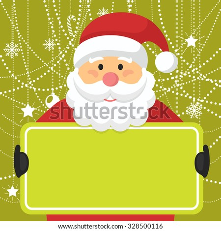 Santa Claus Greeting Card with Copyspace Vector Illustration - stock vector