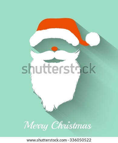 Santa claus hat beard template christmas stock vector 336050522 santa claus hat and beard template ristmas retro santa card in vector maxwellsz