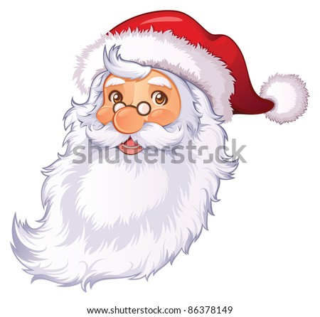 Santa Claus head isolated - stock vector