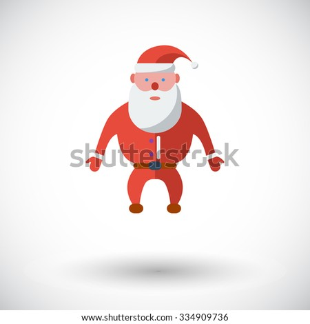 Santa Claus icon. Flat vector related icon for web and mobile applications. It can be used as - pictogram, icon, infographic element. Vector Illustration. - stock vector