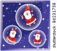 Santa Claus in bubble - stock vector