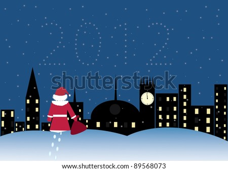 Santa claus coming town stock vector 89568073 shutterstock