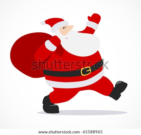 Santa Claus isolated on white - stock vector