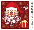 Santa Claus  on a brown background. - stock vector