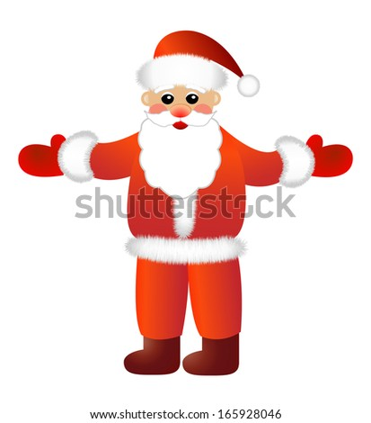 Santa claus on a white background,  vector illustration