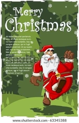 Santa-Claus on Christmas Time - stock vector