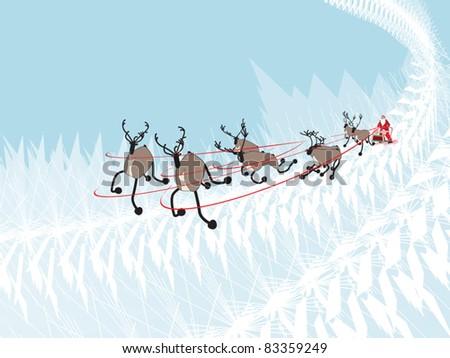 Santa Claus's reindeer - stock vector