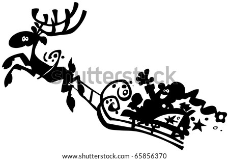 Santa Claus silhouette. - stock vector