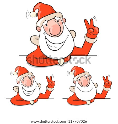 Santa Claus. Vector illustration eps 10. Christmas theme - stock vector