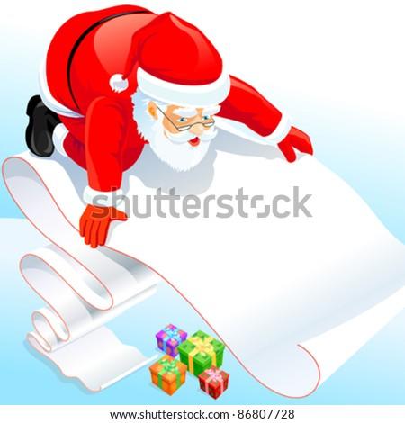 Santa Claus Coming Town Stock Vector 65715148 - Shutterstock