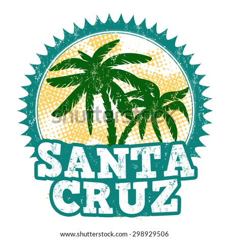 Santa Cruz grunge rubber stamp on white background, vector illustration - stock vector