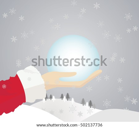 Santa deliver gifts (Blank area for text or other images).