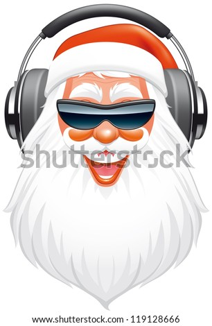 Santa DJ - stock vector