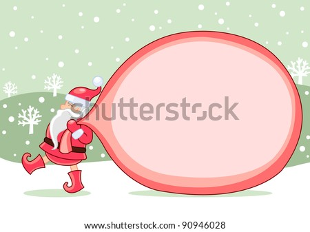 Santa is coming - stock vector