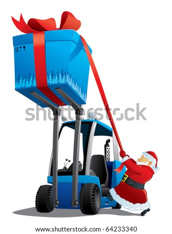 santa with a christmas loader