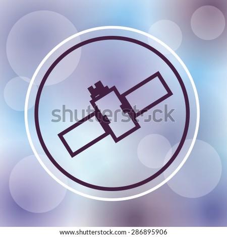 satellite design over purple background, vector illustration - stock vector