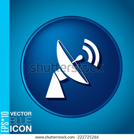 satellite dish icon. radar sign. antenna symbol - stock vector