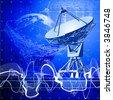 satellite dishes antenna (doppler radar) - stock vector