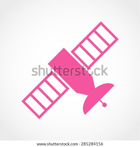 Satellite Icon Isolated on White Background - stock vector