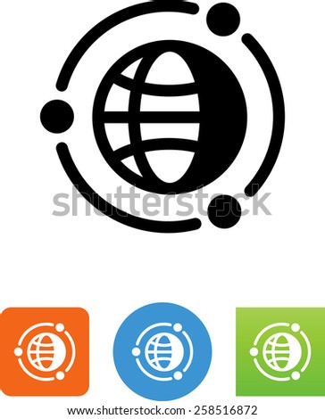 Satellite network symbol for download. Vector icons for video, mobile apps, Web sites and print projects.  - stock vector