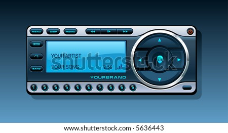 Satellite Radio Receiver - stock vector