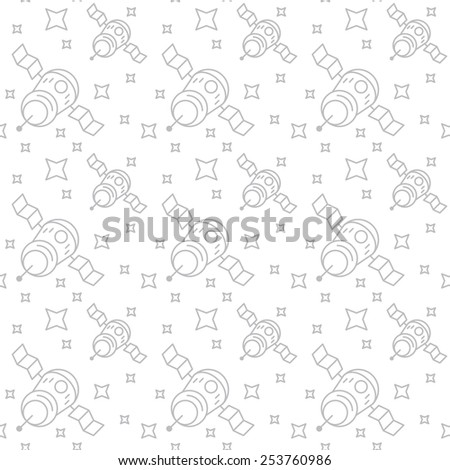 satellite seamless background space stars