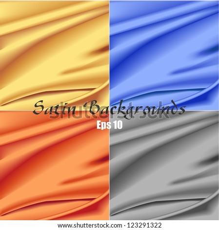 Satin Backgrounds - stock vector