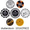 Satisfaction guaranteed and premium quality labels - stock vector