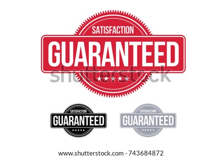 Satisfaction Guaranteed Badge Symbol Red