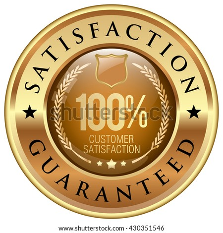 satisfaction guaranteed icon - stock vector