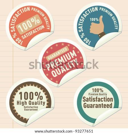 Satisfaction Guaranteed Label - stock vector