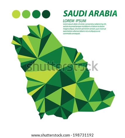 Saudi Arabia geometric concept design - stock vector
